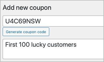 generate coupon code