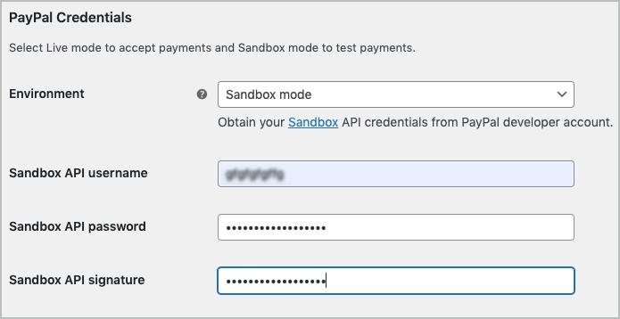 Configuring Sandbox mode in PayPal