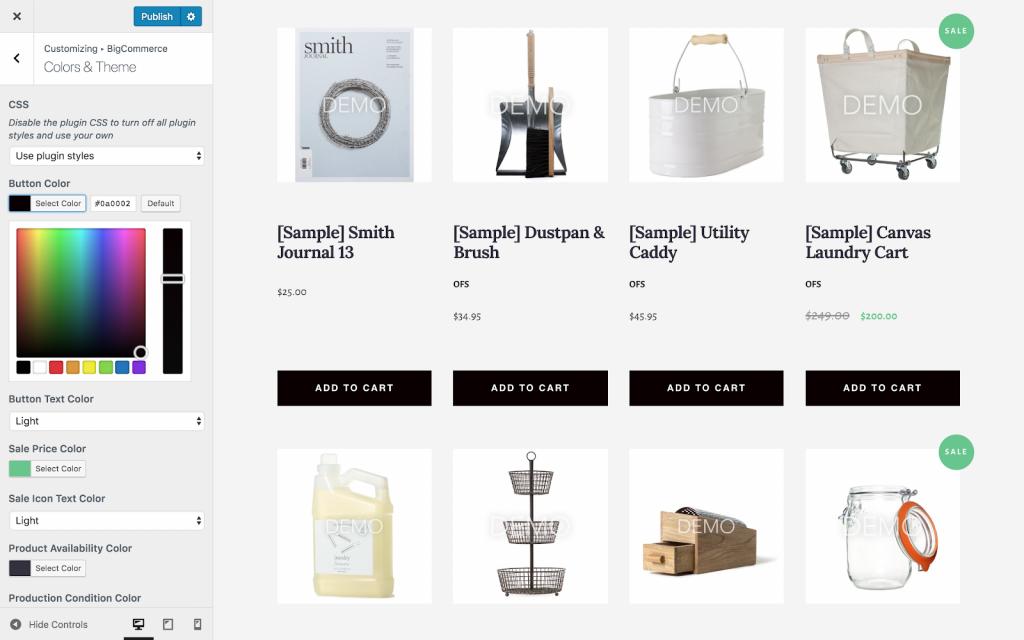 BigCommerce plugin to add eCommerce functionality to WordPress