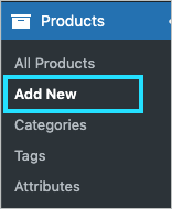 Add new submenu for adding new products in the WooCommerce store