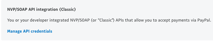 Manage API credentials