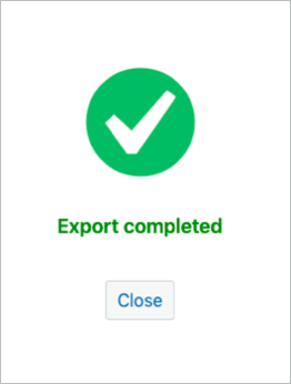 successfully exported to cloud storage