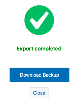 successfully exported to local