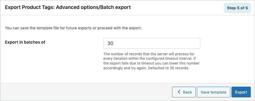 Advanced export options during export of WooCommerce product tags